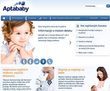 Internet sajt www.aptababy.rs