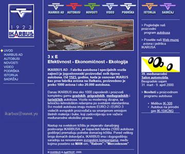 Internet sajt www.ikarbus.co.yu