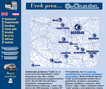 Internet sajt www.lasta.co.yu