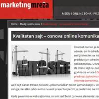 Kvalitetan sajt – osnova online komunikacije!