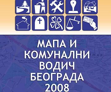 Mapa i komunalni vodič Beograda 2008.